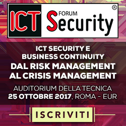 Forum ICT Security 2017 Iscrizioni