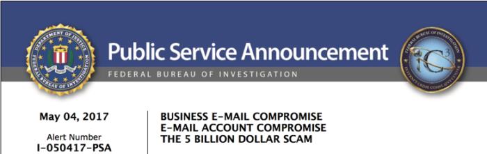 BEC Rapporto FBI